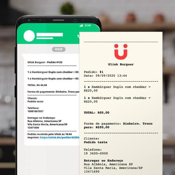 Imprima seu pedido do Utapy